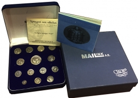 Collection Mailink of 14 Silver Copies of Ancient Greek Coins