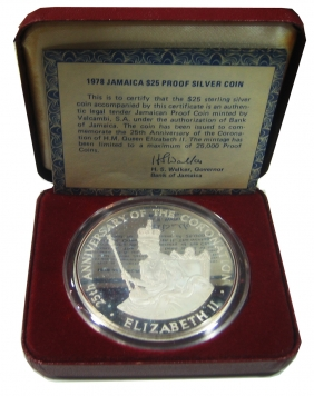 JAMAICA 25 Dol. 1978 136,5 gr/925 silver PROOF