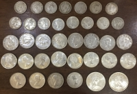 CANADA Collection 36 Different Silver Coins 1940-1965