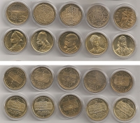 Collection of 10 Medals UNC