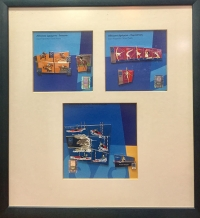 Frame with 3 Puzzle Of Pins Of Olympic Games 2004