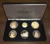 Collection of 6 silver coin Proof