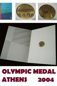 OLYMPIC MEDAL 2004 OFFICIAL