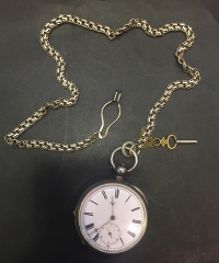 Silver Pocket Watch Working