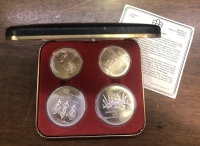 CANADA olympic Case of 4 SilverCoins 1976