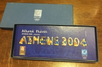 collection [set 10] pins of olympic games 2004