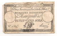 ASSIGNAT 25 Sols about 1790