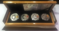 CHINA Case with 4 official commemorative silver coins for the Olympic Games 2008 (T - 1 - 3)