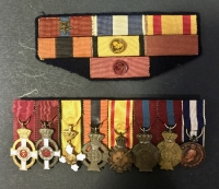 Bar of 8 Police Miniature Medals