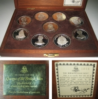 GR.BRITAIN Collection of 9 Queens
