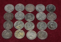 CANADA Collection of 19 different 10 Cents 1903 to1968 F+ to UNC
