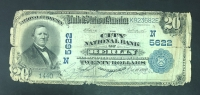 USA Rare BERLIN 20 Dollar 1902 Low Grade