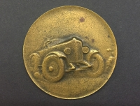 Rare Greek Brass Medal Of Games Automobile 1926 (First in Greece)