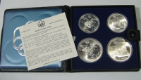 CANADA Case with 4 silver coins of the Olympic Games 1976