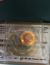 EL SALVADOR 25 Col. 1971 Proof