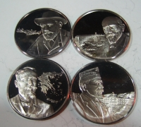 Collection of 4 silver proof medals
