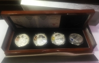 CHINA Case with 4 official commemorative silver coins for the Olympic Games 2008 (T - 2 - 6)