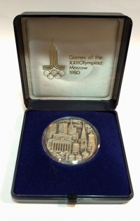 RUSSIA Semi-official silver Olympic medal 1980