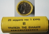 Roll 1 Euro 2002 Bank Of Greece  S