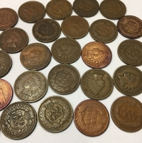 USA Collection of 25 Different Ceent Indian Head  1864-1909
