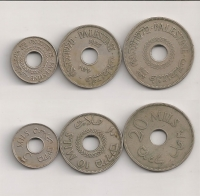 PALESTINE Collection 3 coins