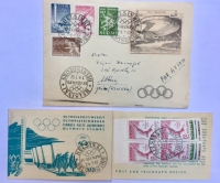 FDC 1957 ELSINKI and Booklet
