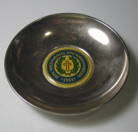 Silver-plated religious plate 1924