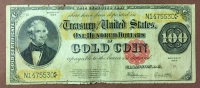 USA 100 Dollar 1922 Gold Cert. F  RARE
