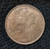 GR. BRITAIN One Penny 1892 XF