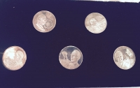 Case with 5 silver medals with Karamanlis 1980