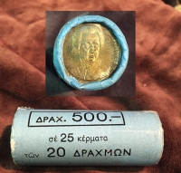 Bank of Greece Roll 20 Drachmas 1990