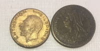 2 New Year token 1953 and 1966