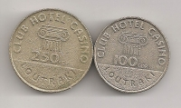 100 & 250 Drachma Casino of Loutraki Tokens