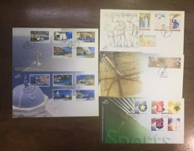 Collection of 5 FDC 2008 face value about 23€