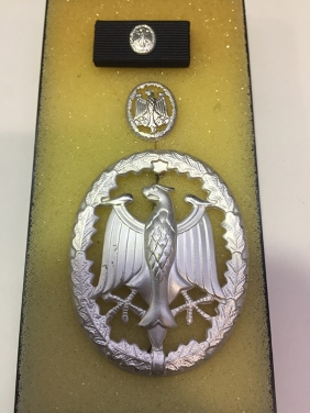 GERMANY . Badge and Pin Boxed