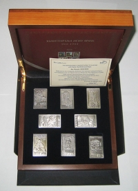 Case ELTA (Greek Post Office) with silver stamps