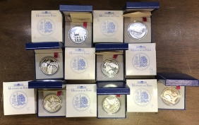 FFRANCE Collection 7 Silver Commemorative Coins 1999 2000 Proof