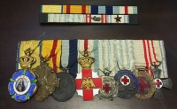 Very rare bar of medals of Red Cross