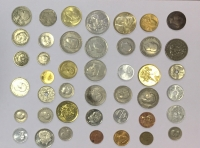 Collection of 43 Different Greek Coins incl. 20 Drachmas silver
