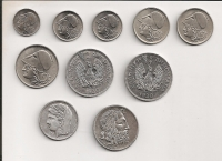 Complete set 1926-30 10 pcs UNC