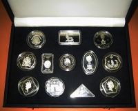 Collection of 12 silver Proof coins Millenium