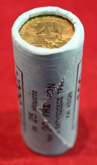 Roll of Bank of Greece 20 Drachmas 1994