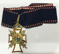Commander of order of Saint George and Konstantinos with swords RARE