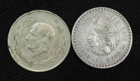 MEXICO 2 X 5 Pesos 1948 and 1953 VF