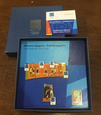 collection [set 5] pins of olympic games 2004