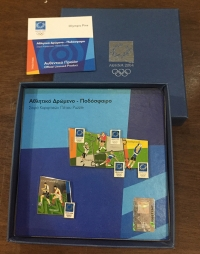 collection [set 4] pins of olympic games 2004
