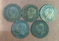 Set Of 5 coin 10 lepta  King George
