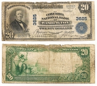USA 20$ National Loan Exchange Bank Columbia 1906 VG