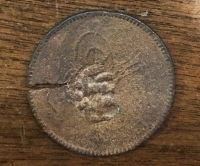 Greek  Countermark token  in Ottoman Coin